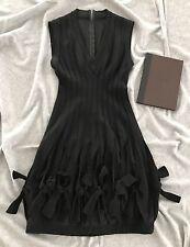 Azzedine Alaia parís vestido nuevo-size 38-lana wool-negro
