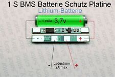 BMS 1S 3A 3.7V Zelle Li on Akku Batterie Schutz Platine Lithium Protection Board