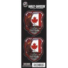 Harley-Davidson Eagle Canada Flag 2 Decal Set free shipping
