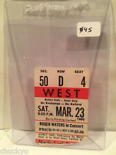 Roger Waters Concert Ticket Stub 3-23-1985 Toronto Maple Leaf Gardens - Rare