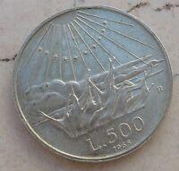 Repubblica Italiana 500 Lire 700° DANTE ALIGHIERI in Argento -  1965 - n  998