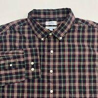 Croft & Barrow Button Up Shirt Men's XL Long Sleeve Multi Plaid Easy Care Casual