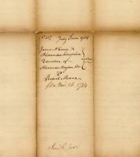 James Smith, PA Declaration Signer - Revolutionary War-Dated Document Signed