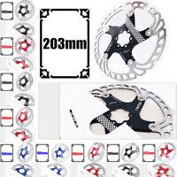 140-203mm MTB Disc Brake Rotor Hydraulic Disc Brakes Bicycle Brake Pads Aluminum