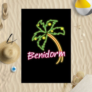 "58x39"" Benidorm Microfibre Beach Towel Summer Holiday Gift"