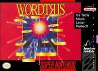 Wordtris Super Nintendo Game SNES Used