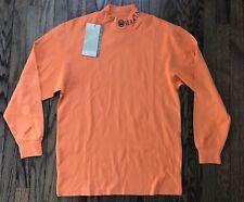 NWT Beretta Mens Long Sleeve Pullover Orange Turtleneck Hunt Sweater Size Small