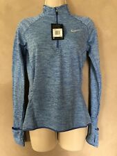 NWT Nike Therma Half zip Running athletic top Blue Long Sleeve Dri-fit XS NEW