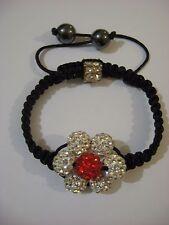 Bracelet handmade Bijoux, Rouge Fleur Design, avec véritable hématite
