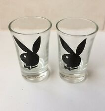 PLAYBOY RABBIT HEAD BLACK SHOT GLASSES