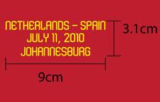 Netherlands Vs Spain World Cup 2010 FINAL Spain Away Match Details