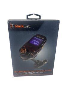 Blackweb FM Transmitter Play Bluetooth 3.5 MM Aux Audio On Car Radio BWB17AV004