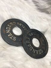 2 Used Rusty Barbell 2.5 lb Standard Weight Plates USA SELLER SHIPS ASAP