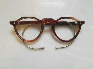 Vintage Angular Thick Brown Tortoiseshell Frame Reading Glasses 1960/'s Rare!