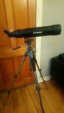 Mint Condition Hyundai Telescope Spotting Scope, Full Lenses, Steel Tripod, Bag