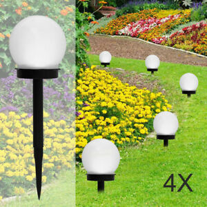 Solar Round Ball Globe LED Garden Path Ground Stake Lighting Security UK
