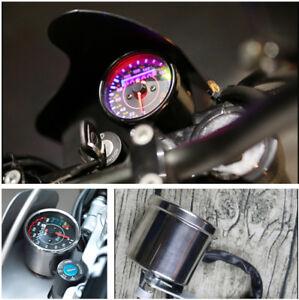 Custom Retro Motorcycle Mechanical Odometer Speedometer KM/H MPH With N Gear EFI