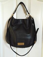 MARC by MARC JACOBS *NEW Q HILLIER HOBO* PEBBLED LEATHER BLACK *EUC*