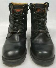 Harley Davidson Black Leather Zipper Boots #84178 Women's Size 6.5