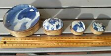 4 Antique Chinese snuff boxes 925 porcalin