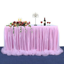 Large Tulle Table Skirt Cover Birthday Wedding Festive Party Decor Table Cloth