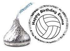 216 VOLLEYBALL BIRTHDAY PARTY FAVORS HERSHEY KISS KISSES LABELS