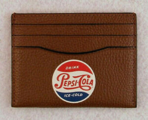 COACH NWT PEPSI-COLA Card Flat Case Limited Edition F26087 Front Pocket Wallet