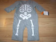 Size 0-3 Months Skeleton Jumpsuit Gray White Halloween Costume Outfit New