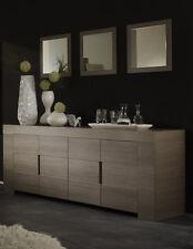 Credenza moderna EOS 4 ante madia legno Rovere Grigio mobile Buffet contenitivo