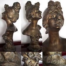 ART NOUVEAU JULIEN CAUSSE Preciosa escultura de mujer de finales del siglo XIX