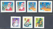 GREAT BRITAIN 2012 CHRISTMAS SELF ADHESIVE SET OF SEVEN STAMPS