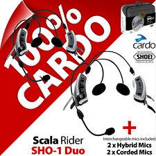 Cardo Scala Rider SHOEI SHO-1 DUO Bluetooth Motorcycle Helmet Intercom Headsets