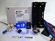 Box Mod Kit DiY Hammond 1591B*510 Connector*16mm Button*3034 Mosfet*voltmeter*