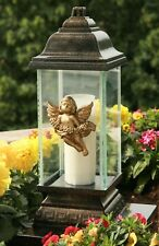 Engel Grablaterne Grablampe Grableuchte Grabschmuck Bronze inkl. Grablicht Kerze