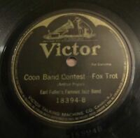 Earl Fuller's Famous Jazz Band - VICTOR 18394 - Coon Band Contest 78 RPM NICE!!
