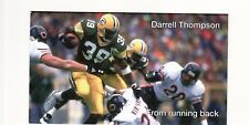 DARRELL THOMPSON GREEN BAY PACKERS 3 1/2 X 5 1/4 PHOTO ROUGH SHAPE AUTOGRAPHED