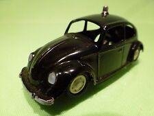 GAMA MINI-MOD VW VOLKSWAGEN BEETLE - POLICE? - BLACK  1:43 - GOOD CONDITION