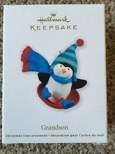 Hallmark Keepsake Grandson Penguin Ornament New In Box