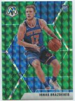 2019-20 Mosaic Ignas Brazdeikis Green Mosaic Prizm Rookie RC New York Knicks