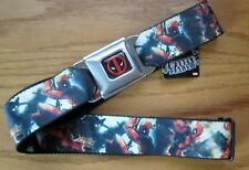 Deadpool Vadear Wilson Buckle-Down Cinturón de Seguridad Marvel Comics Ajustable