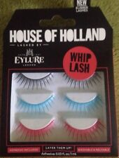 New - Eylure House Of Holland Whiplash Rubber Lashes - Black Blue Red - Free P&P