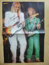 """James Young & Tommy Shaw """"Styx"""" AUTOGRAPHES signed 28x41 cm Poster Plié"""