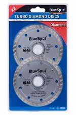 "2 x 115mm 4.5"" TURBO DIAMOND DISC ANGLE GRINDER GRINDING STONE CUTTING FA10"