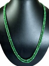 Natural 2/3/4/5/6 Multi Strands Emerald 4mm Size Faceted Beads Necklace Gemstone