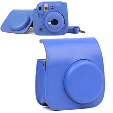 For Fujifilm Instax Mini 8 9 Camera Cobalt Blue Shoulder Bag Case Cover w/ Strap