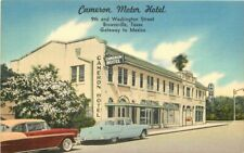 Automobiles Brownsville Texas Cameron Motor Hotel roadside Postcard Cook 6868