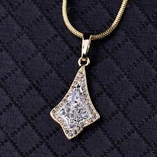 18k Gold Filled Ladies Luxury Swarovski Crystal Long Pendant Necklace Jewellery