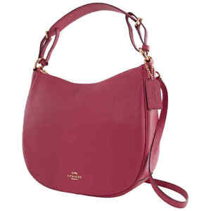 Coach Ladies Leather Sutton Hobo Bag-Dusty Pink 35593 GDDPK