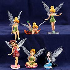 6x Tinkerbell Fairy Birthday Figure Cake Topper Figurine Garden Decor Toys GN