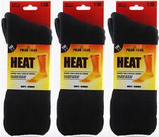 Mens Black Polar Paws Heat Thermal Socks (3 Pairs)